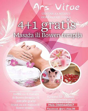 Masaža ili Bowen terapija 4+1 gratis