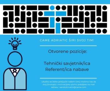 Traži se: Tehnički savjetnik/referent nabave (m/ž)