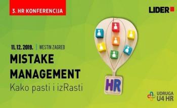 HR konferencija: Mistake management – neuspjeh je izazov za uspjeh