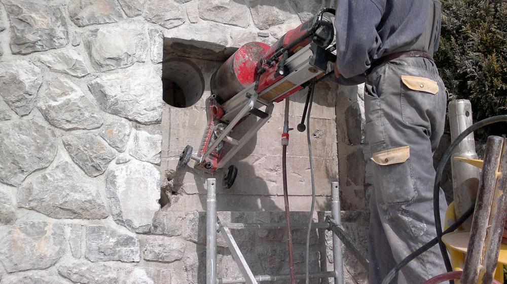 rezanje otvora u zidu
