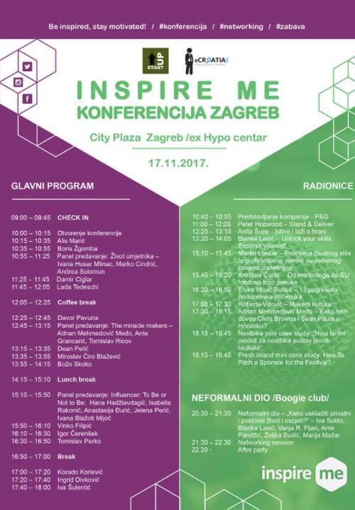 Inspire me Zagreb program