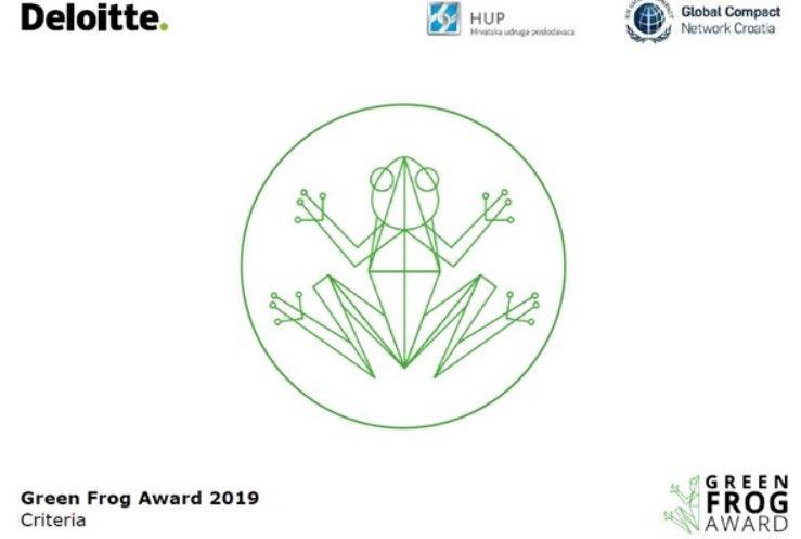 Green Frog Award 2019 - Natječaj za najbolje izvješće o održivosti