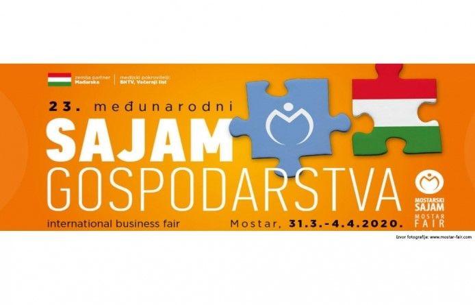 Poduzetnici, prijavite se na 23. Međunarodni sajam gospodarstva u Mostaru 2020.