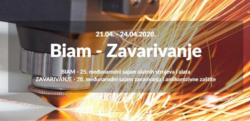 Poziv na izlaganje na sajmovima: BIAM i Zavarivanje 2020.