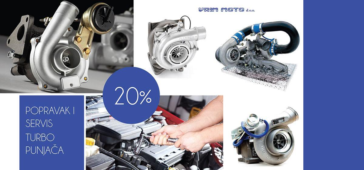 20% popusta na servis i popravak turbo punjača - VRIM MOTO