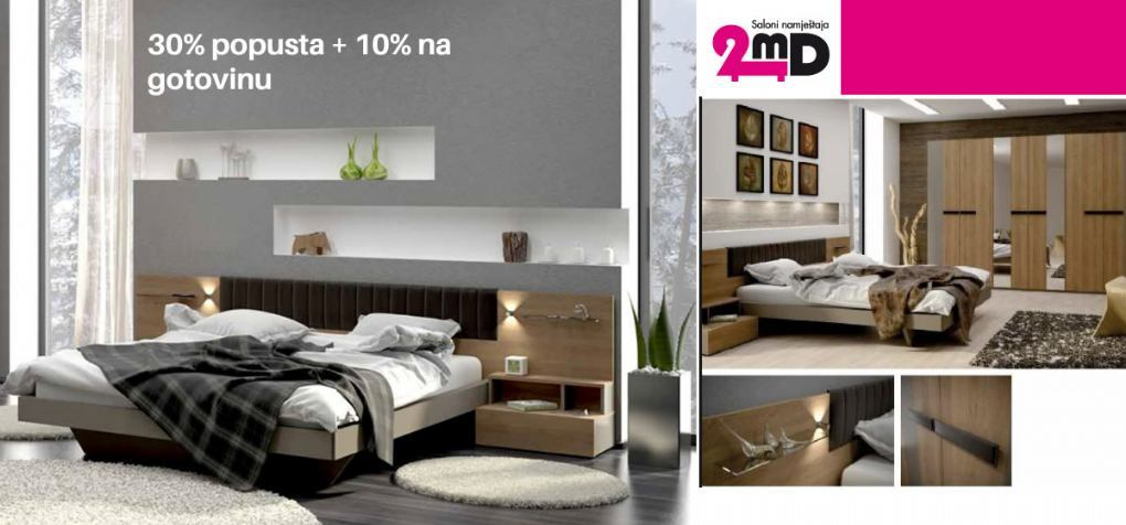 Spavaće sobe Kantata - 30% + 10% popusta - 2MD SALON NAMJEŠTAJA