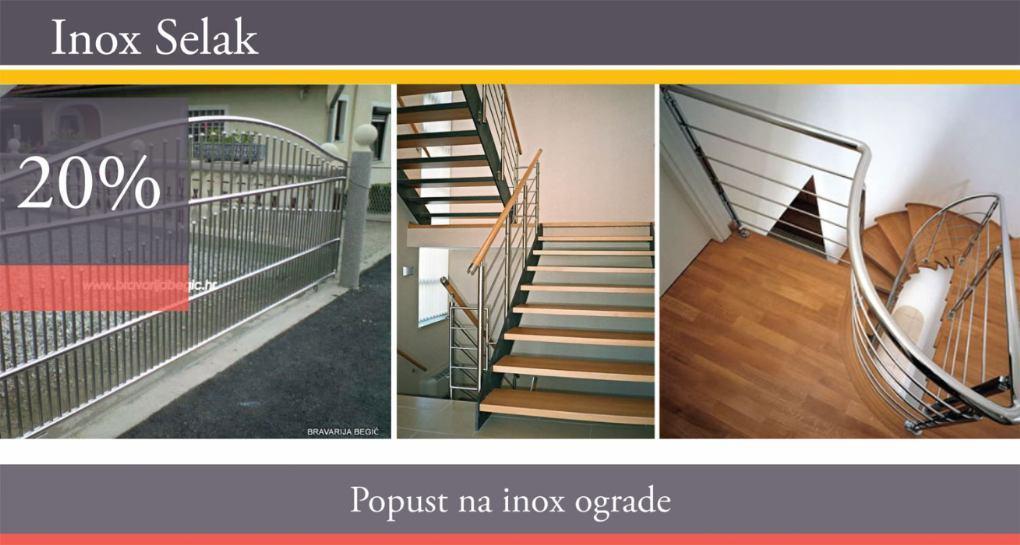 Inox selak - 20% popusta na izradu svih vrsta inox i kovanih ograda