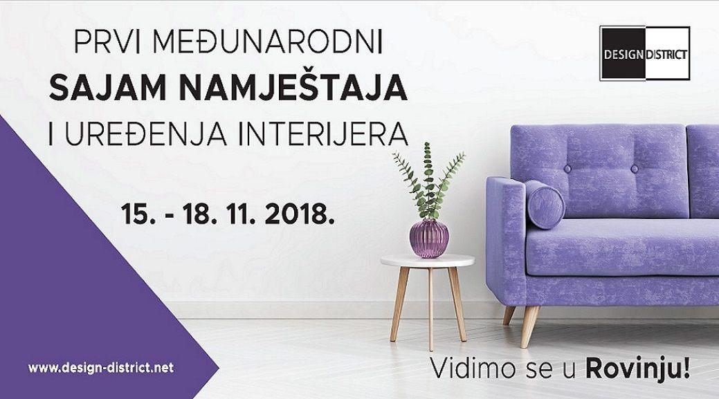 Uskoro 1. međunarodni sajam namještaja i dizajna interijera Design District u Rovinju