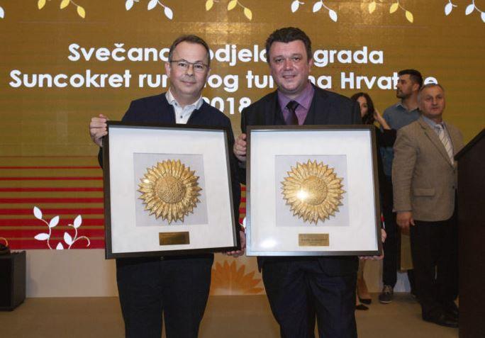Dodijeljena nagrada Suncokret ruralnog turizma: Zlatni suncokret za Vinotel Gospoja