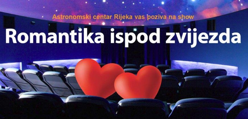 Romantika ispod zvijezda – program povodom Valentinova u Astronomskom centru Rijeka