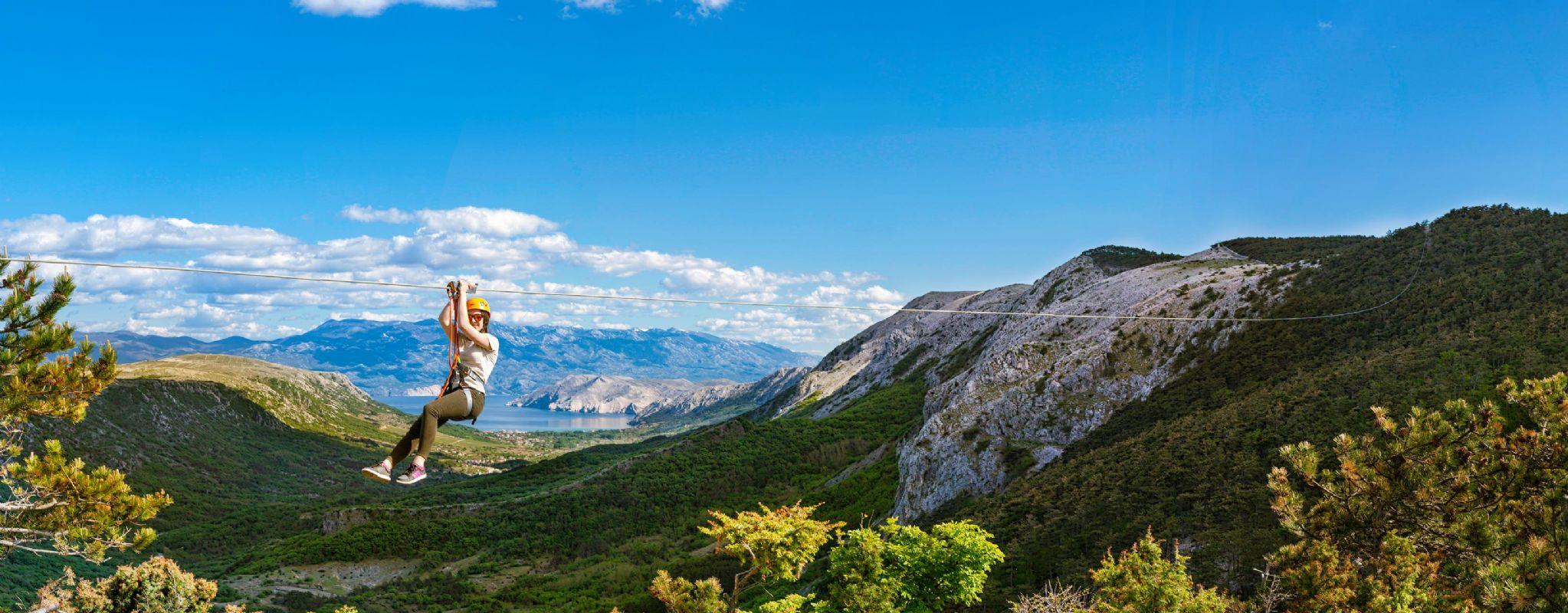 Samo za najhrabrije: zip line atrakcija na otoku Krku