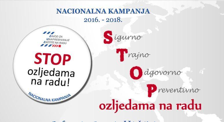 Poziv za sudjelovanje u dodjeli priznanja u okviru kampanje  STOP ozljedama na radu