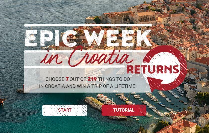 "Zbog velikog interesa HTZ ponovno pokreće kampanju ""Epic Week in Croatia"""